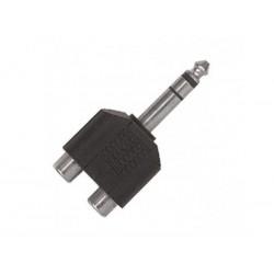 Adattatore Stereo Jack 6.3mm Maschio - 2 RCA Femmina