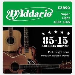 D'Addario Great American Bronze Phosphor Super Light