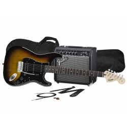 FENDER Squier Affinity Stratocaster HSS Pack 15G Brown Sunburst