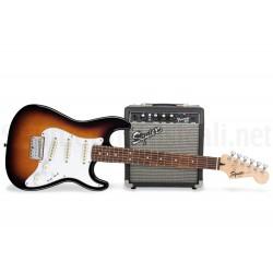 FENDER Squier Stratocaster SSS Pack 10G Brown Sunburst